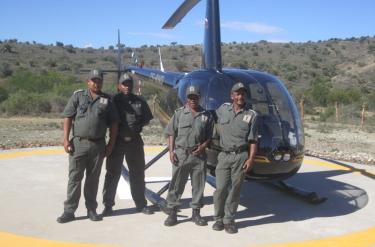 Helikopter flyvning i Sydafrika
