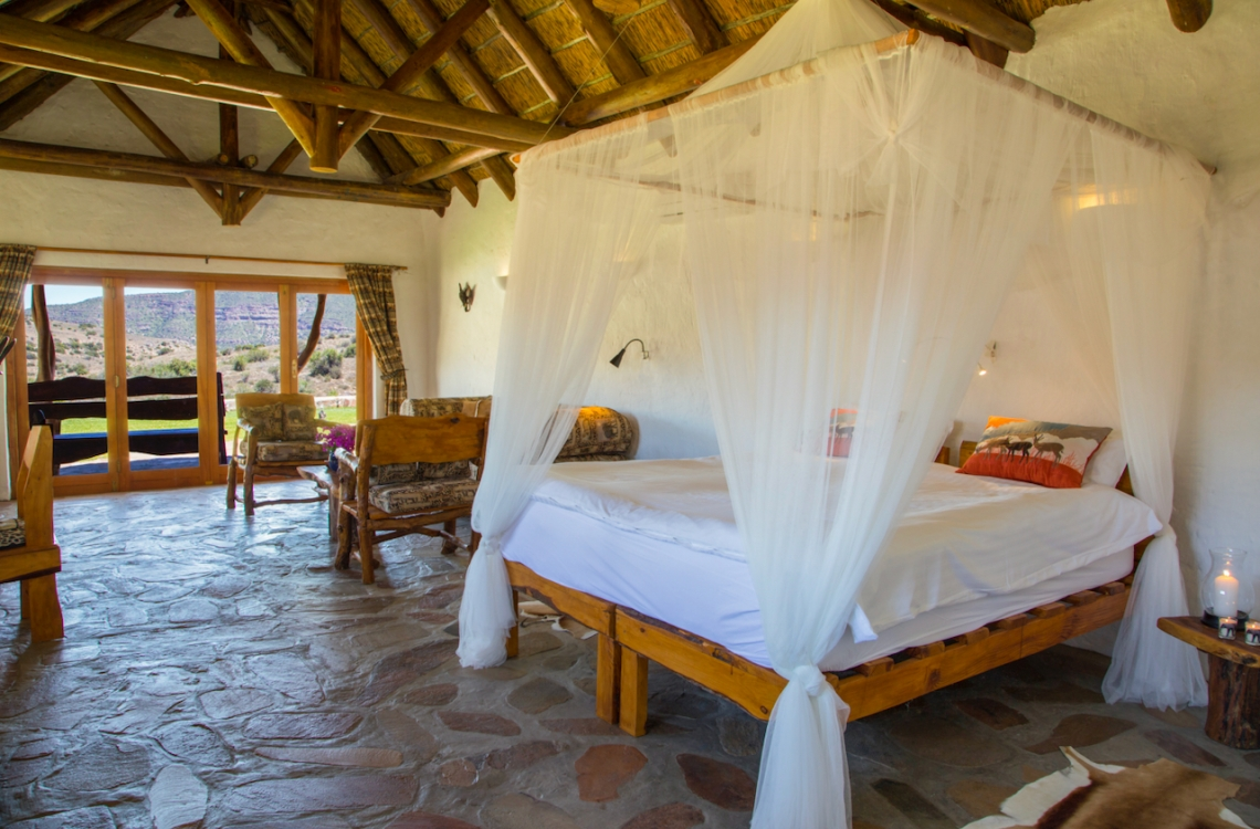 Gæsteboliger indrettet i afrikansk stil
