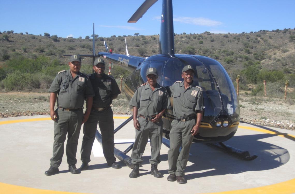 Helikopterflyvning direkte fra farmen