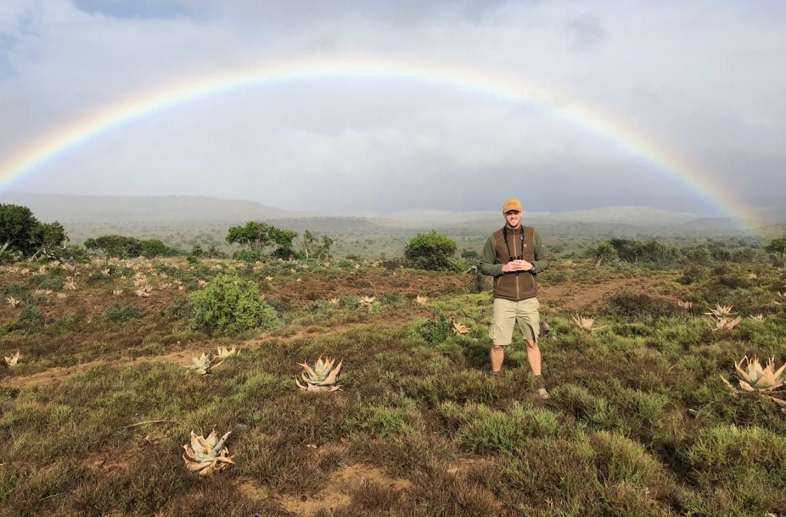 Det smukke sydafrikanske landskab fra en morgenjagt