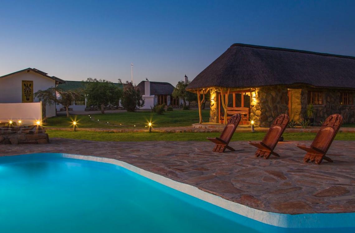 Gæstehusene med direkte adgang til poolområdet